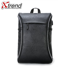 Xtrend men Multifunction USB charging+Headphone plug Fashion Business Casual Tourist Waterproof 15.6 inch Laptop Backpack