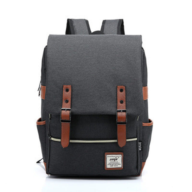 Vintage Laptop Backpack for Women Men,School College Backpack with USB Charging Port Fashion Backpack Fits 15 inch Notebook
