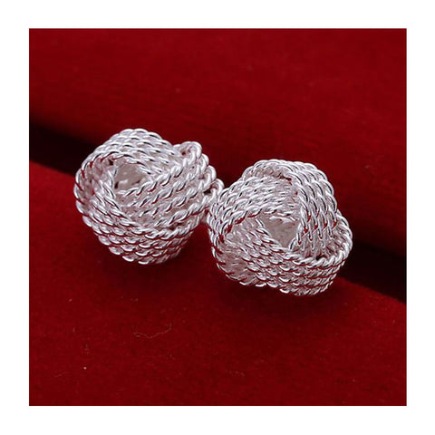 Silver Plated Knot Studs