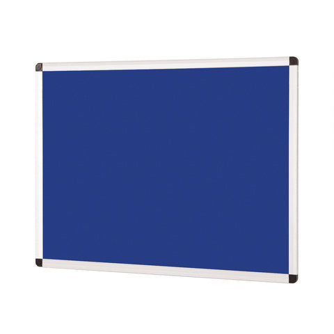 Aluminium Framed Noticeboard - Blue Felt