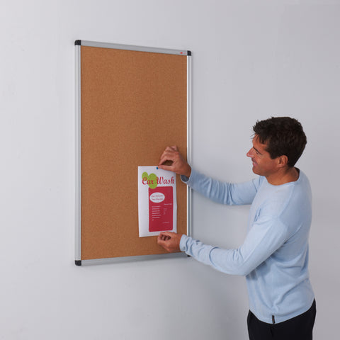 Aluminium Framed Cork Noticeboard
