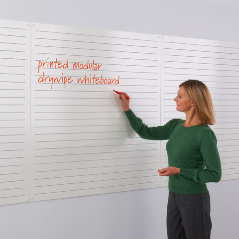 WriteOn Printed Modular Whiteboard - Music, Gridded or Handwriting Lines