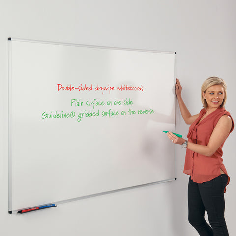 WriteOn Aluminium Framed Dual Faced Whiteboard