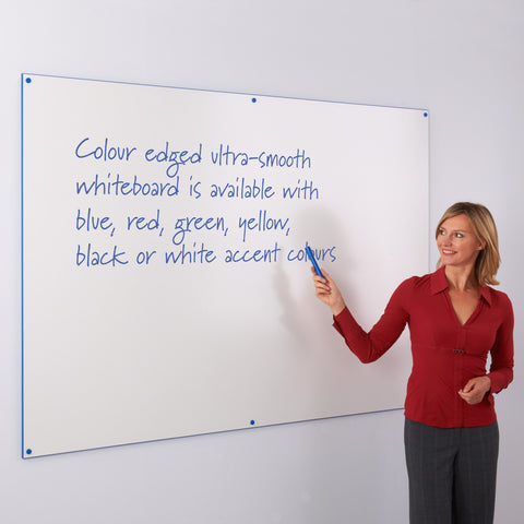 WriteOn Coloured Edge Frameless Whiteboard