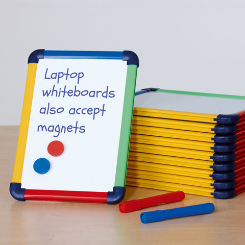 Metroplan Coloured Frame Laptop Whiteboard - Pack of 10