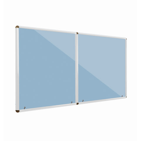 Shield Design Resist-a-Flame Corridor White Frame Tamperproof Noticeboard