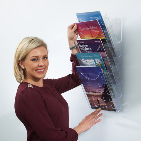 Metroplan All Clear Premier Wall Mounted Literature Display
