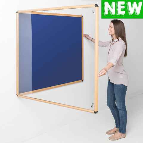 Shield® Design Wood Effect Tamperproof Noticeboards