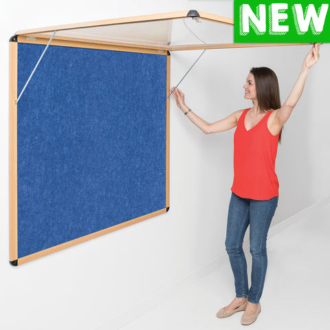 Tamperproof Corridor Shield® Eco-Colour Noticeboards