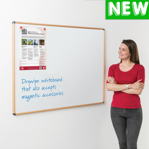 Shield® Design Wood Effect Magnetic Whiteboard