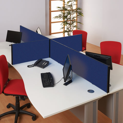 BusyScreen Classic Straight Desk Screen (Woven Cloth)