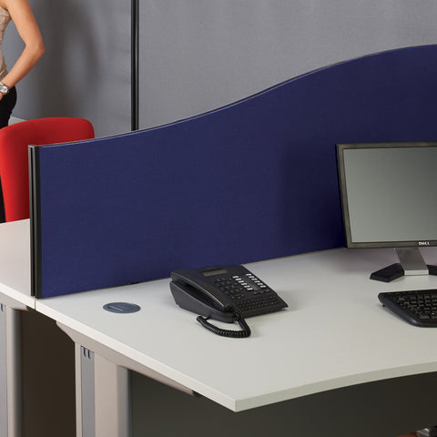 BusyScreen Classic Wave Desk Screen (Woven Cloth)