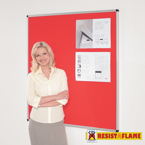 Resist-a-Flame Aluminium framed noticeboard