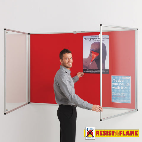 Resist-a-Flame tamperproof noticeboard