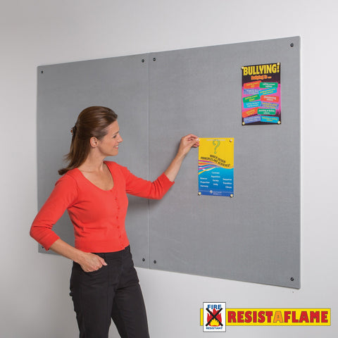 Metroplan Frameless Resist-a-Flame noticeboard