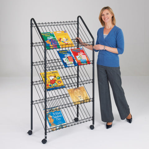 Metroplan Wire Mobile Magazine Rack