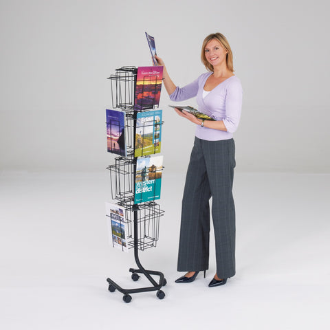 Wire Revolving Leaflet Dispenser