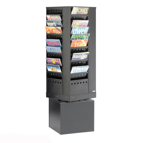Metroplan Steel Revolving Literature Dispenser