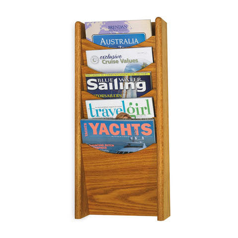 Metroplan Oak Wall Mounted Literature Dispenser