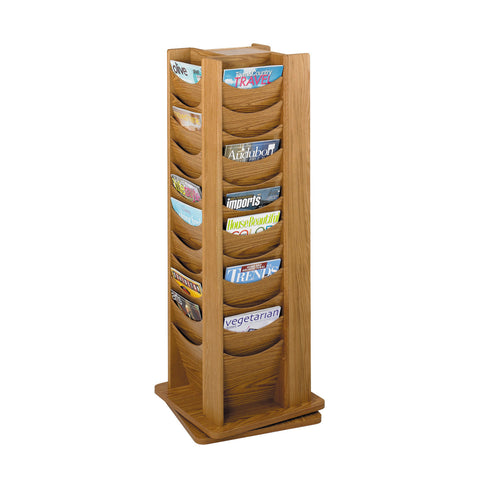Metroplan Oak Revolving Literature Dispensers