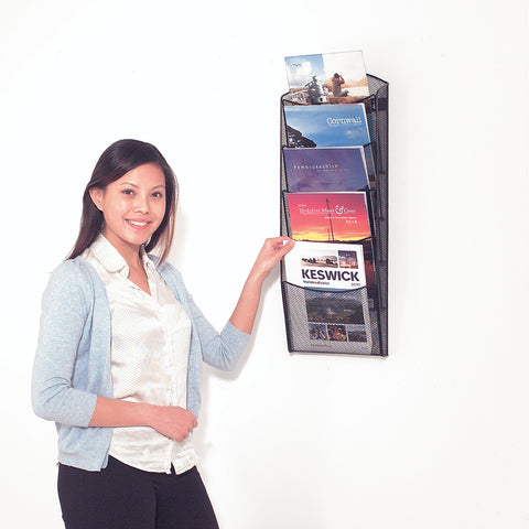 Metroplan Mesh Wall Mounted Brochure Display
