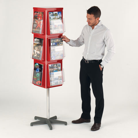 Traditional 4 Sided Revolving Leaflet Dispenser