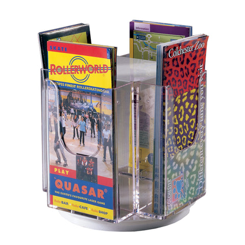 Metroplan Revolving tabletop literature dispenser