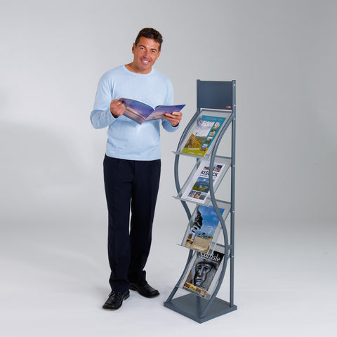Metroplan Wave Freestanding Leaflet Dispenser