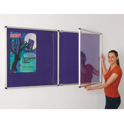 ColourPlus Felt Tamperproof Noticeboard