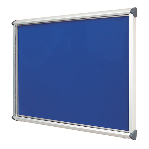 Shield Showcase with Top Hinged Doors - Aluminium Frame