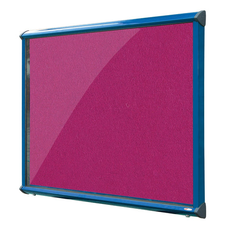 Shield Showcase with Top Hinged Doors - Coloured Frame Vibrant