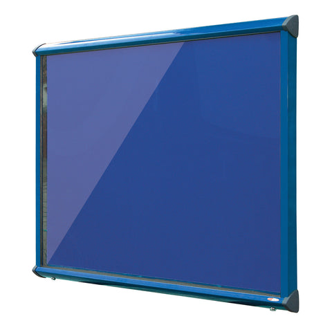 Shield Showcase with Top Hinged Doors - Coloured Frame