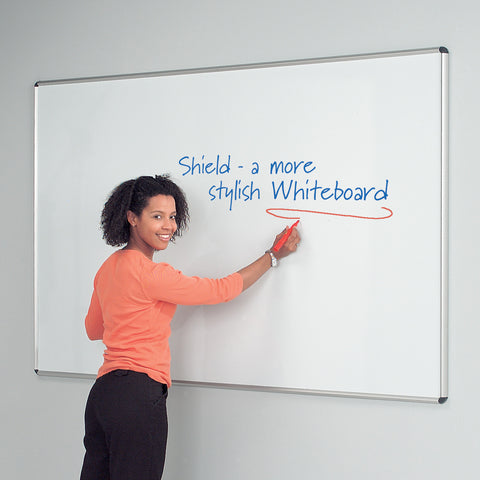 Shield Design Aluminium Coloured Frame Whiteboard