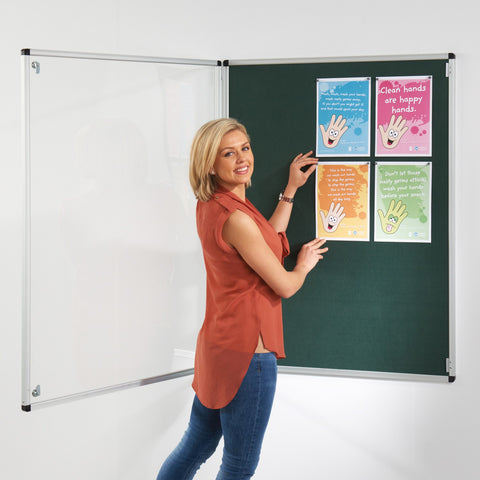 Metroplan Tamperproof noticeboard with fire retardant cloth