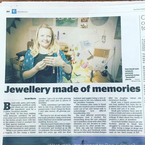NZ Herald article - Jewellery Made of Memories