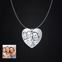 Personalised Photo Engraved Heart Pendant
