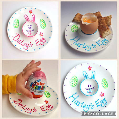 Personalised Egg cup saucer