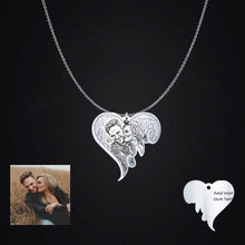 Personalised Photo Engraved Love Heart Pendant