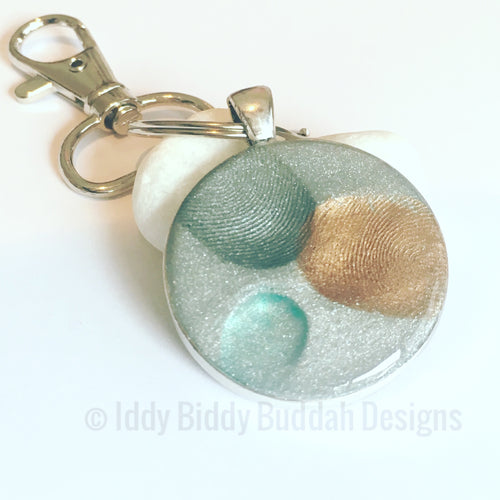 Fingerprint Keepsake Keyring