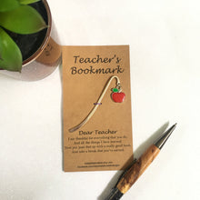 Customised Teacher's Thank You Bookmark