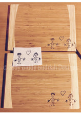 Personalised Chopping Board with Your Child's Drawing