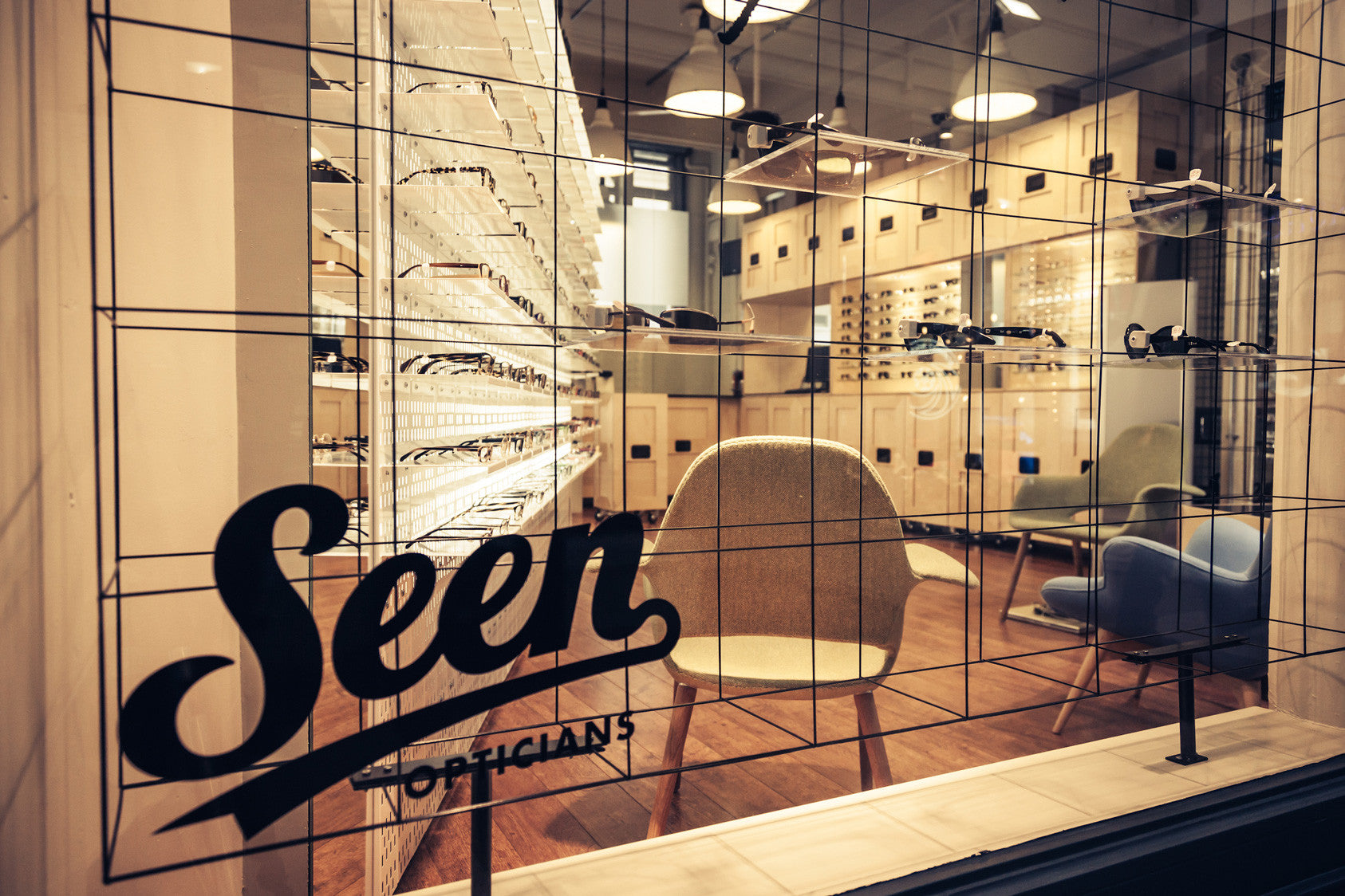 Interior of Seen Opticians in Manchester
