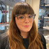 Becky got crystal Anne et Valentin frames in her eyewear styling appointment