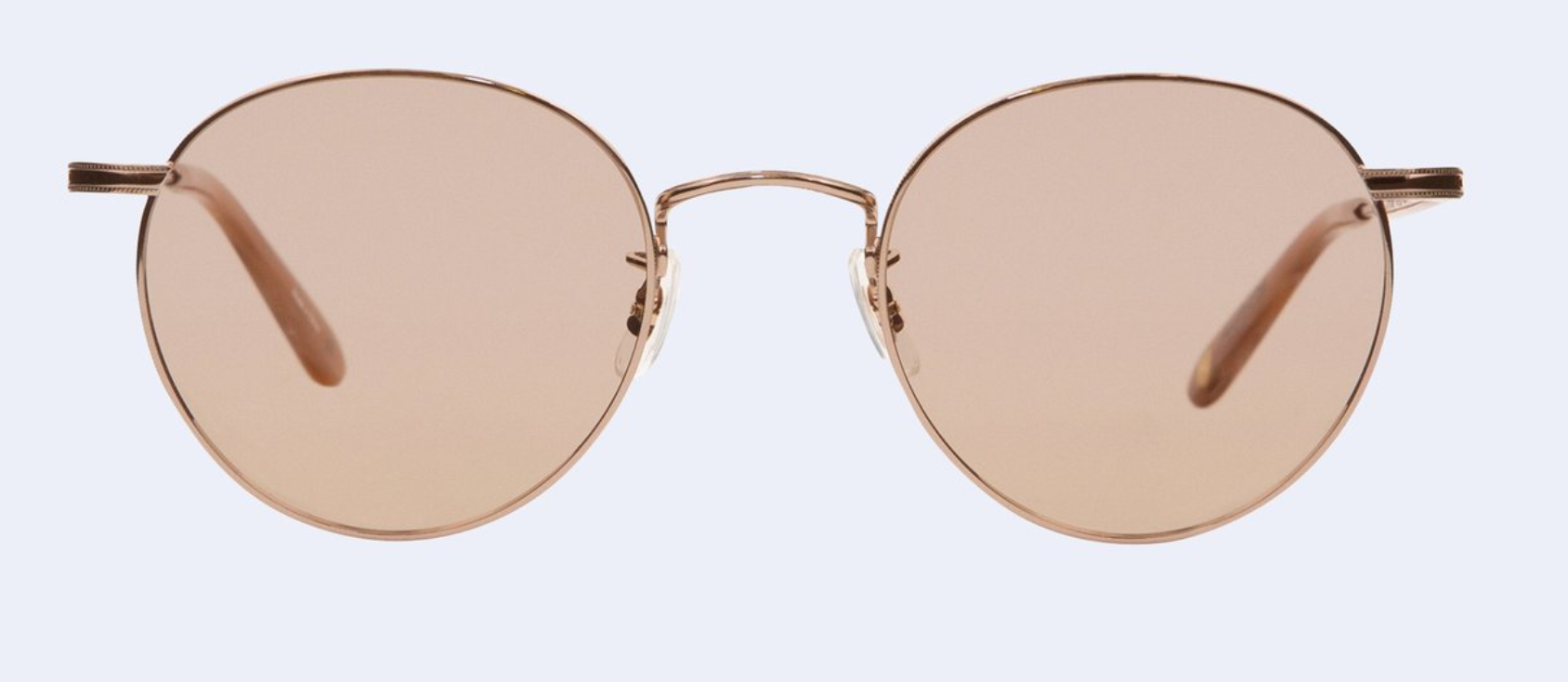 Garrett Leight Wilson M in Sandstone with Semi-Flat Pink Gold Mirror Lens