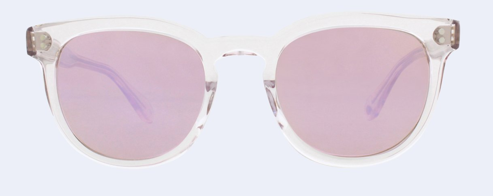 Garrett Leight Granada Sun in Lavender with Amethyst Mirror Lens