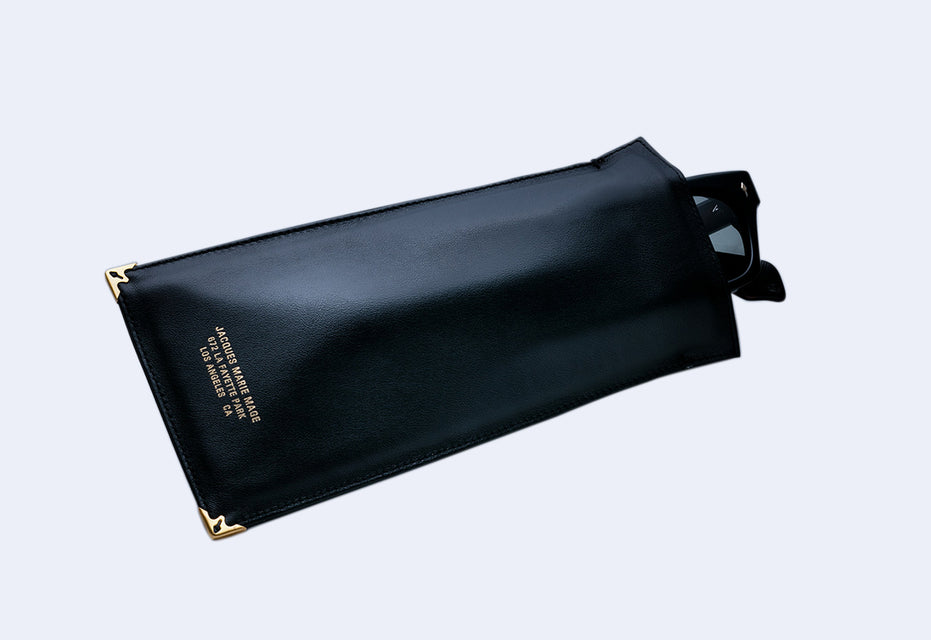 Jacques Marie Mage Softcase Leather Pouch (Black Leather)
