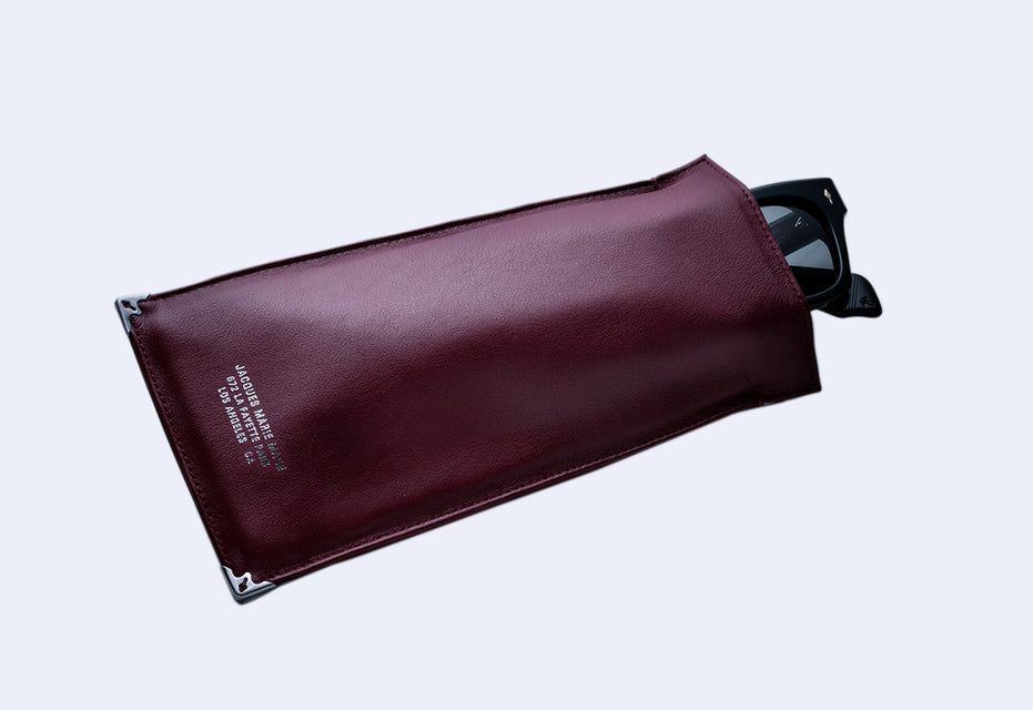Jacques Marie Mage Softcase Leather Pouch (Burgundy Leather)
