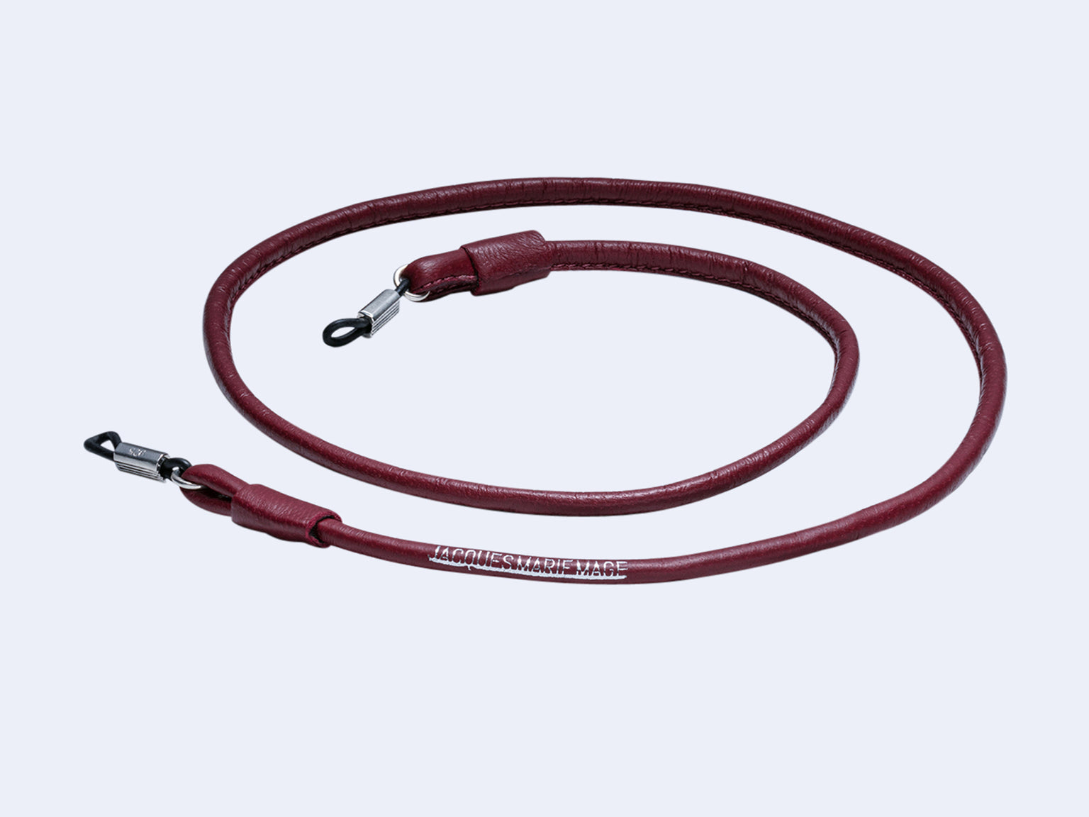 Jacques Marie Mage Round Strap (Burgundy)
