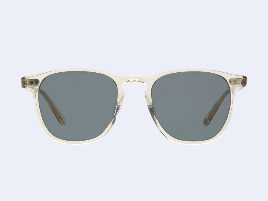 429cf7f6b55 Brooks Sun Champagne with Semi-Flat Blue Smoke Lens. Brooks Sun. Garrett  Leight