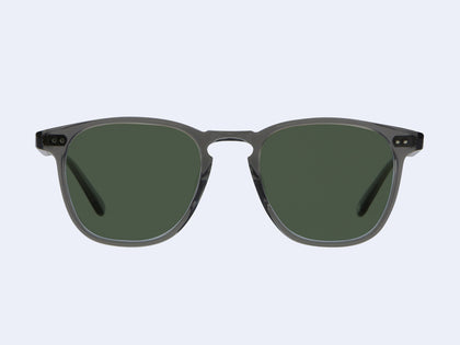 fde50694ba9 Brooks Sun Grey Crystal with Semi-Flat Pure G15 Lens. Brooks Sun. Garrett  Leight